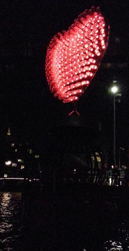 Photo of Amsterdam Holiday Canal Cruise: Amsterdam Light Festival from a Glass-Topped Canal Barge Heart Amsterdam