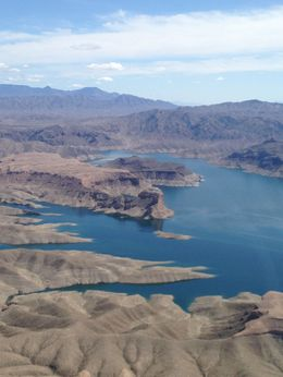 Beautiful views of Lake Mead as we head out to the Canyon, Nicks - March 2016