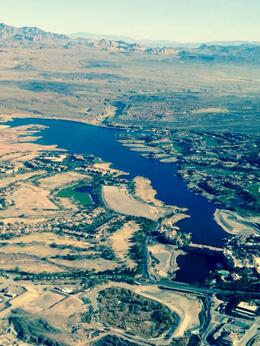 Lake mead view from the helicopter , Avraham R - January 2014