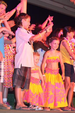 my grandchildren dancing at the luau , Bobbi L - September 2012