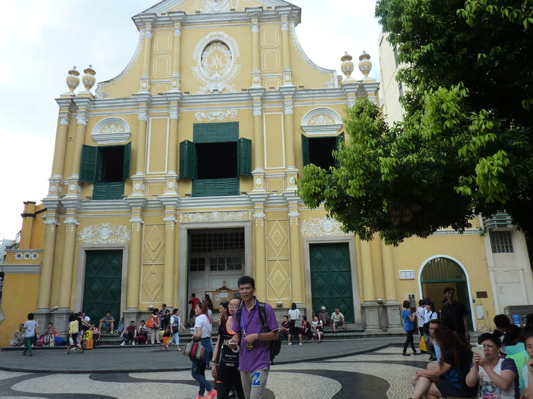 Old Church front in Macau.