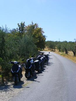 Photo of Florence Vespa Small Group Day Trip to the Chianti Wine Region Our trusty steeds