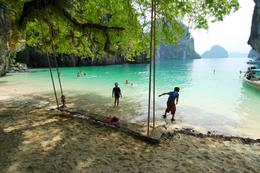 Where we relaxed and swam for a while on Krabi., Jeff - May 2008