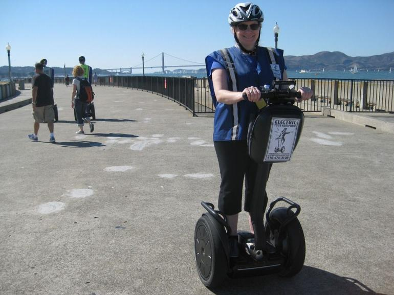 Segwaying in front of the Golden Gate Bridge - San Francisco