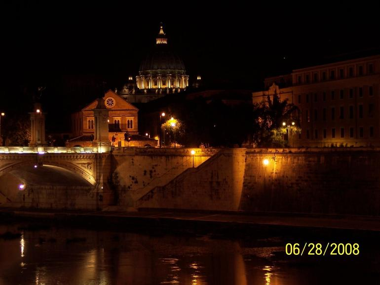 The Evening Vatican View from Bridge - Rome