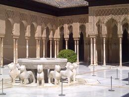 The lion's court at the Alhambra , ERK - May 2014