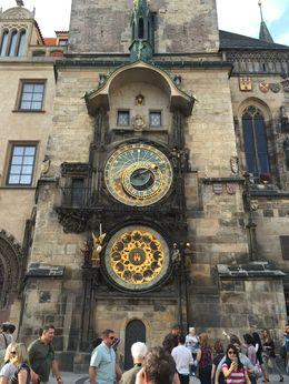 Clock in town square. , Jim - October 2015