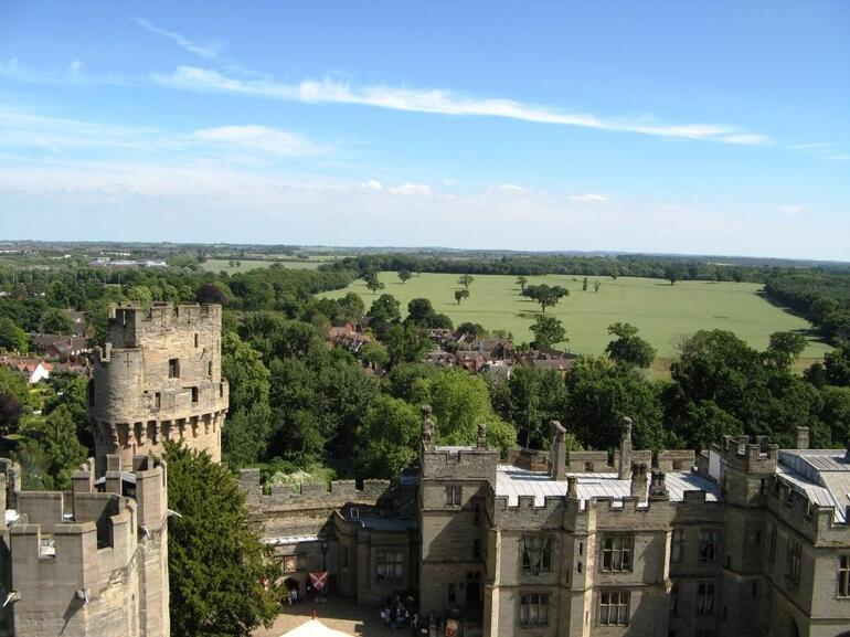 View from the ramparts of Warwick Castle - London