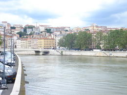 View of the Saone River, Cat - January 2012