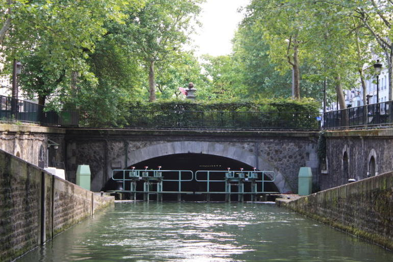 About to enter the underground Canal - Paris
