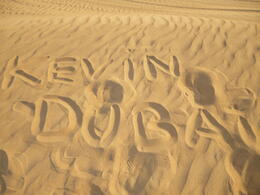 My name in the sands of Dubai , Kevin S - September 2011