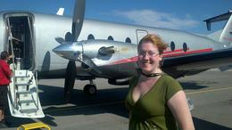 With our plane, Mykie - July 2011