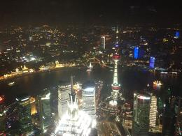 Jin Mao from the Shanghai World Financial Center observation. The bright building in Jin Mao, Cat - August 2012