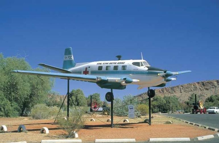 Royal Flying Doctor Service model plane - Alice Springs