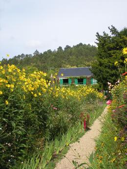 Photo of   Monet's garden and house