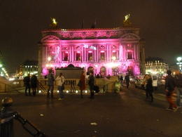 The opera house is lit up in the colours of breast cancer month! , Herb - October 2012
