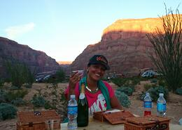 Photo of Las Vegas Grand Canyon West Rim Deluxe Sunset Helicopter Tour Picknick with Champagne!