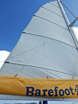 the sail sets for our return to home port , David H - September 2014