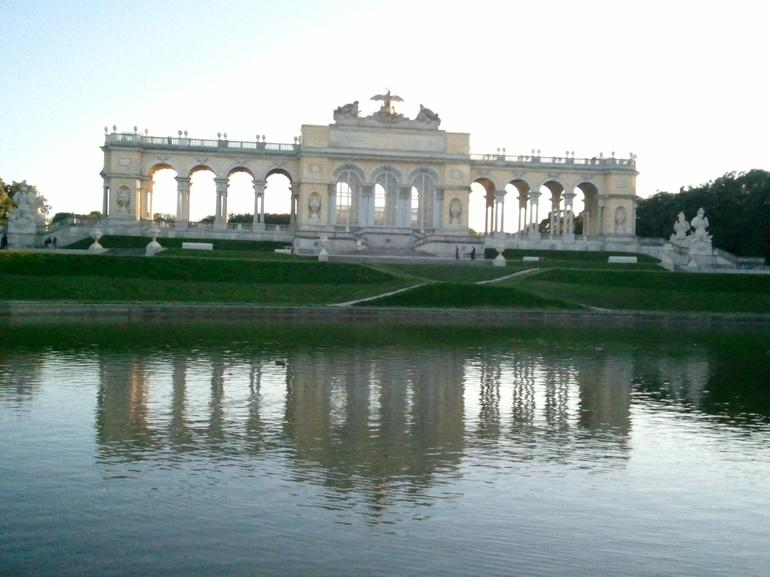 Reflective pool of the palace. - Vienna