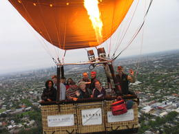 The cool thing is they had a camera attached to the balloon so we got photos in the air with the city behind us, Nicks - January 2014