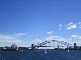 The Harbour Bridge and Opera House from lunchtime cruise , Barry J - August 2013