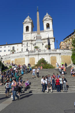 Visiting the Spanish Steps , Dolores M - May 2013