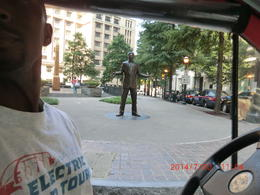 Photo of Atlanta Atlanta City Tour by Electric Car The statue of Andrew Young viewed from our cart
