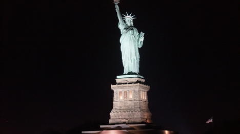 Statue Of Liberty At Night Time Statue of Liberty Even...