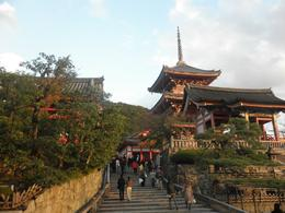 The walk up to Kiyomizu Temple. The light bouncing off the temples made for a beautiful setting., KELLY W - November 2010