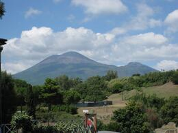 View of Mount Vesuvius from Pompeii., Thomas H - September 2010