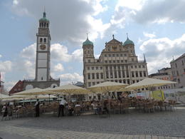 Lunch stop in Augsburg , Kevin F - August 2013