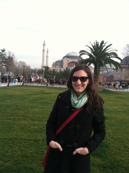 Standing in front of Aya Sofia as part of the Istanbul in One Day Sightseeing Tour. , Diana S - February 2013