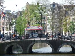 A typical Amsterdam view, canal, bridge, bikes and a herring cart!, Chou Fleur - September 2010