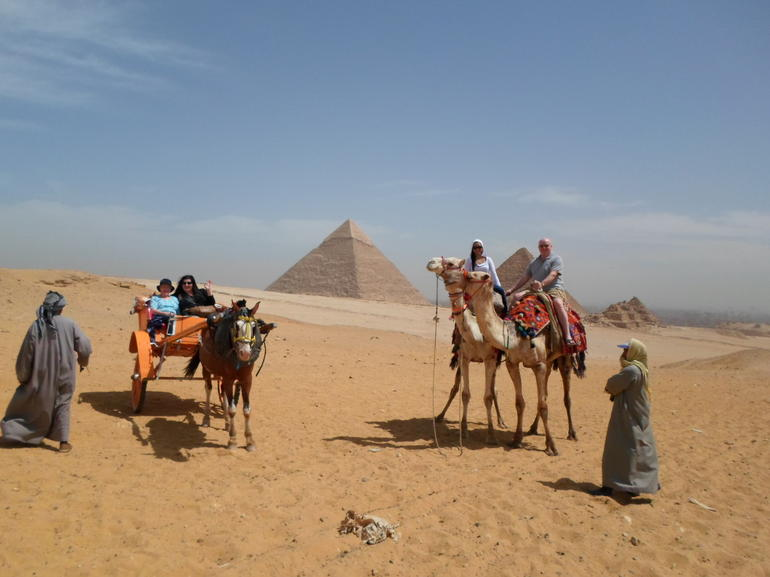 Camel ride with Pyramids backdrop ! - Cairo