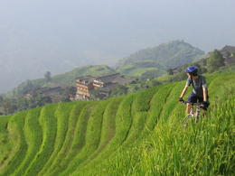 Biking past the rice terraces. It's so gorgeous. - May 2012