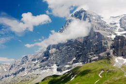 The world famous north face of the Eiger near Grindelwald, Switzerland. - May 2011
