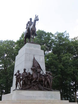 Virginia State Monument with Gen. Robert E. Lee on Horseback - August 2013