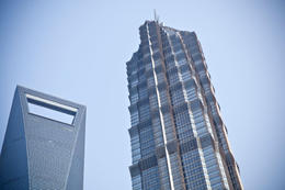 Photo of   Jin Mao Tower and SWFC, Shanghai