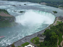 View of the Canadian Falls from Skylon Tower , Helen - September 2015