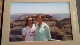 My mom and I on the Skywalk. , Shirley T - June 2014