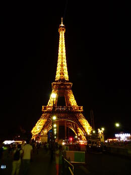 Photo of Paris Skip the Line: Eiffel Tower Tickets and Small-Group Tour Tower at night