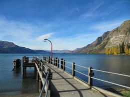 View of Lake Wakatipu from Walter Peak's jetty - May 2010