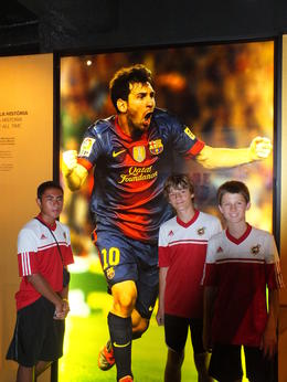 PJ - Alexander - Cormac at the Barca museum , Dennis T - July 2013