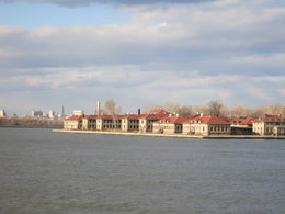 Ellis Island from the ferry, Patricia P - July 2015