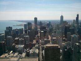 The pretty skyscraper laden view East at Chicago 360. , thepea - April 2014