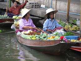 Two ladies at the floating markets , iceman1366 - June 2011