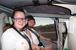 Kim, Paige and myself in the helicpter , John G - September 2013