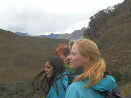Katya, Ali, and Balen trekking around Cajas Nacional Parque , William M - March 2013