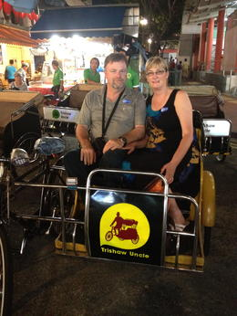 Mark and myself going for a ride through China town, its the only way to see it. , bradley S - March 2014