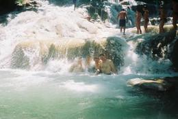 Photo of Montego Bay Dunns River Falls and Ocho Rios Shopping Tour Under Waterfall